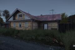 zu gewachsenes Haus